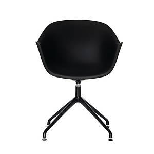 Chaise Paperflow Moon pied noir assise noir