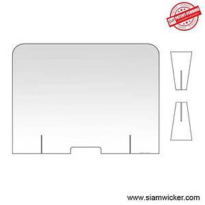 ACRYLIC SPLASH GUARD SCREEN 100 X 80 CM