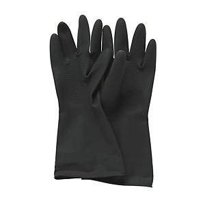 Black Plastic Gloves L
