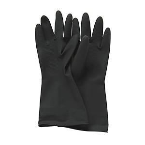 黑色膠手套 大碼