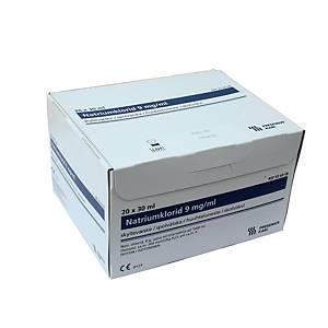 Suolaliuos, NaCl 9 mg/30ml huuhteluneste 1 KPL=30 ampullia