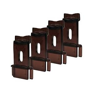 A4 Acrylic Double Deck Tray Risers - Set of 4