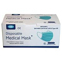 Masque chirurgical 3 plis type 2R - bleu - boîte de 50