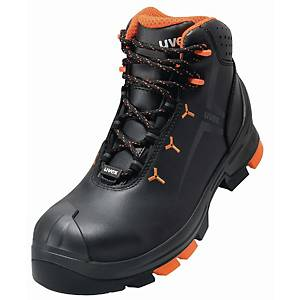 UVEX 2 6503.4 SAFETY BOOTS 52 BLACK/ORGE