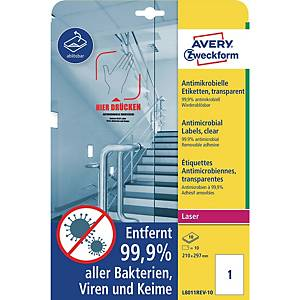 Antimicrobial Labels, clear