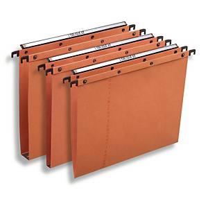 Dossiers suspendus Elba AZO Ultimate® pour tiroirs, 330/250, fond V, orange, 25x