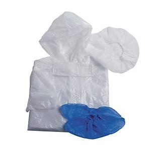 Kit visiteur Hopen - blouse, charlotte, masque et sur-chaussures - 100 kits