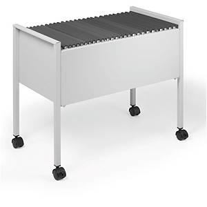 Hängeregistraturwagen Durable 3095, A4, für 80 Hängemappen, leer, lichtgrau