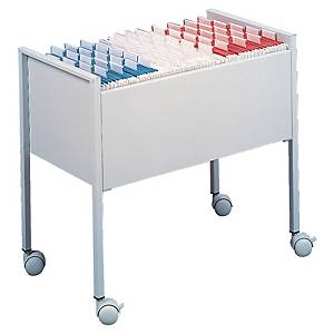 Durable suspension file trolley for 60-80 suspension files A4 grey