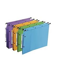 Elba AZV Ultimate® hangmappen kasten, 330/275, A4, V-bodem, blauw, per 25 stuks