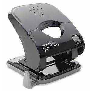 GERM-SAVVY X5-40PS ECO 2-HOLE PUNCH BLK