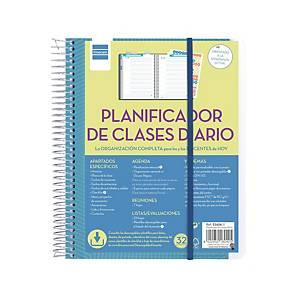 Planificador clases Finocam - día página - 150 x 210 mm - azul