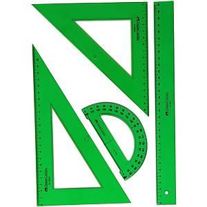 Conjunto de 4 reglas Faber Castell - verde