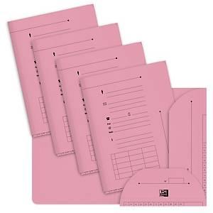 Chemise 2 rabats Elba l Oblique AZ - rose - paquet de 25