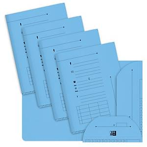 Elba inner folders with 2 flaps for suspension files blue - pack of 25