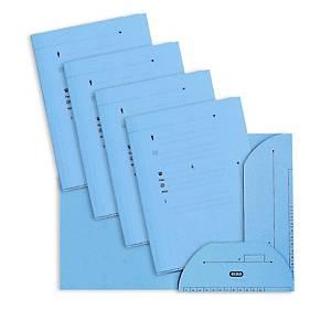 Chemise 2 rabats Elba L Oblique AZ - bleue - paquet de 25