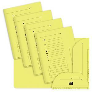 Chemise 2 rabats Elba L Oblique AZ - jaune - paquet de 25