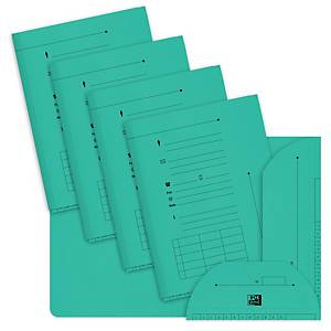 Elba inner folders with 2 flaps for suspension files green - pack of 25