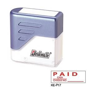 Deskmate KE-P17 [PAID CASH / CHEQUE ___] Stamp