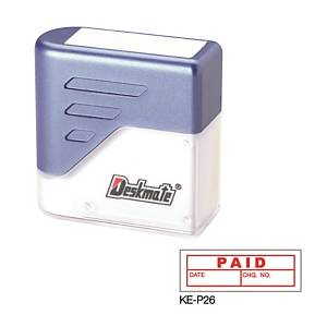 Deskmate KE-P26 [PAID DATE, CHEQUE NO. ] Stamp