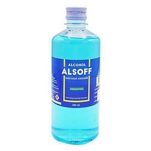 ALSOFF ETHYL RUBBING ALCOHOL 70% 450ML BLUE