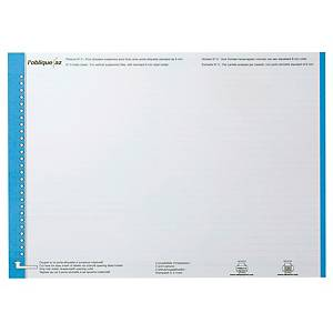 Elba tab inserts for suspension files nr.0 for drawers blue - pack of 10
