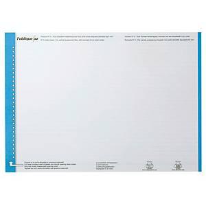 Bandes de lecture Elba dossiers suspendus tiroirs n° 0, bleues, les 10 feuilles