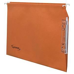 Dossier suspendu pour armoire Lyreco - kraft - dos V - orange - par 25