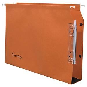 Dossier suspendu pour armoire Lyreco - kraft - dos 50 mm - orange - par 25