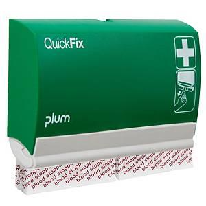 Distributeur de pansements QuickFix, 2x45 pansements Blood Stopper, vert/blanc