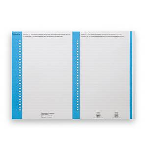 Elba tab inserts for suspension files nr.8 for cupboards blue - pack of 10