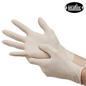 Mr Mark Latex Glove Powder Free - M Size (Box of 100) limited stock available