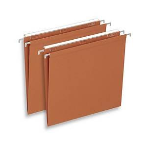 Dossiers suspendus Lyreco Budget pour tiroirs, 330/250, fond V, orange, 25x