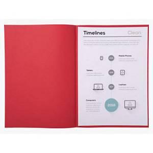 Exacompta folder 850012E 60 grams A4 rood - pak van 250