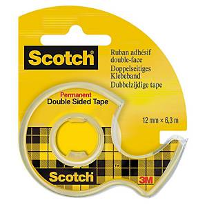 Scotch® kétoldalú ragasztószalag, 12 mm × 6,3 m, 1 tekercs/adagoló