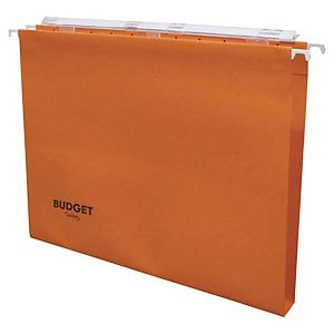Dossier suspendu pour tiroir Lyreco Budget - kraft - dos 15 mm - orange - par 25