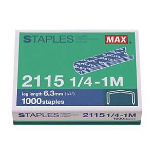 MAX No.B8 (2115-1/4) Staples - Box of 1000