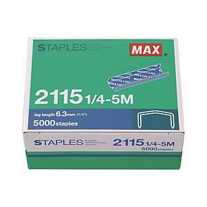 MAX No.B8 (2115-1/4) Staples - Box of 5000