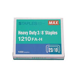 MAX No.23/10 (1210FA-H) Staples - Box of 1000