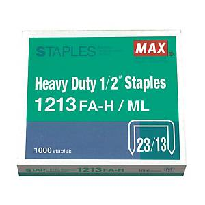 MAX 美克司 No.23/13 (1213FA-H) 釘書釘 - 每盒1000枚