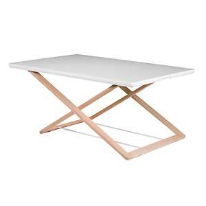 Prenosný pracovný stolík Freedesk original, snehová biela, 85 x 53 cm