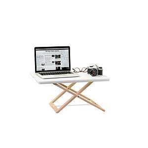 Prenosný pracovný stolík Freedesk compact, snehová biela, 58 x 39 cm