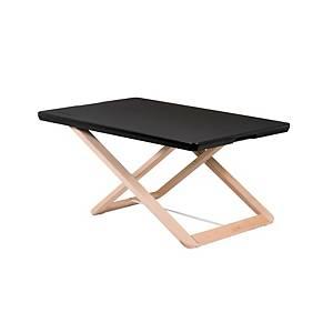 Prenosný pracovný stolík Freedesk Compact, čierny, 58 x 39 cm