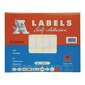 A Labels 241 16 x 28mm - Pack of 750