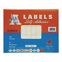 A LABELS 241 白色標籤 16 X 28毫米 每包750個標籤