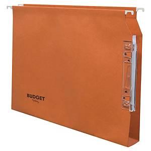 Dossier suspendu pour armoire Lyreco Budget kraft - dos 30 mm - orange - par 25