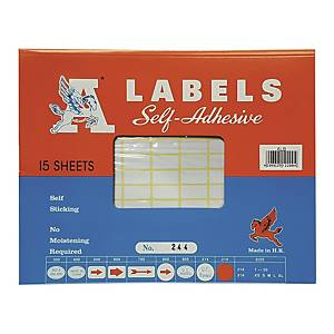 A Labels 244 10 x 20mm - Pack of 1680