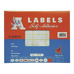 A LABELS 248 白色標籤 16 X 43毫米 每包540個標籤
