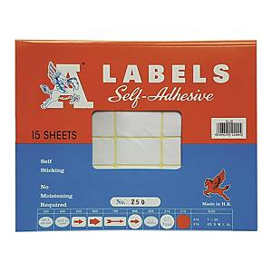 A Labels 250 25 x 42mm - Pack of 360