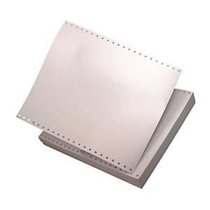 全白電腦紙 9.5吋 x 11吋 2層 - 每盒1000張